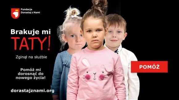 Aby dzieci bohaterów dorosły do nowego życia Dziecko, LIFESTYLE - Poprzez kampanię Dorosnąć do nowego życia? Fundacja chce zwrócić uwagę społeczną na problem i sytuację dzieci rodziców poległych lub poszkodowanych podczas służby. Jednocześnie przypomina, jakie ważne znaczenie ma służba publiczna.
